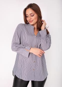 Блузка Ярина серая в полоску