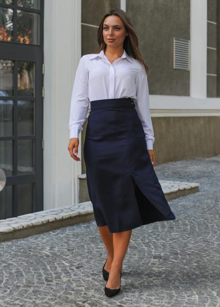 Женская юбка Уля тёмно-синяя