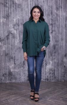 Женская рубашка Ария тёмно-зелёный
