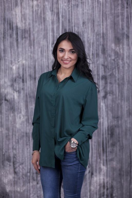 Женская рубашка Ария темно-зеленая