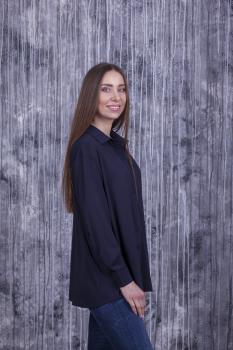 Женская рубашка Ария тёмно-синяя