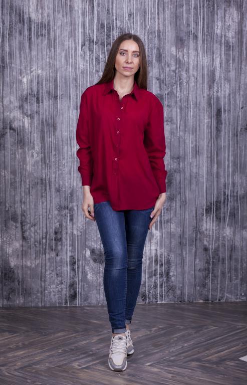 Женская рубашка Ария красная