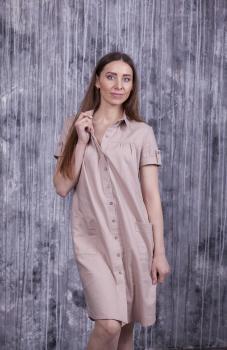 Повседневное женское платье-рубашка