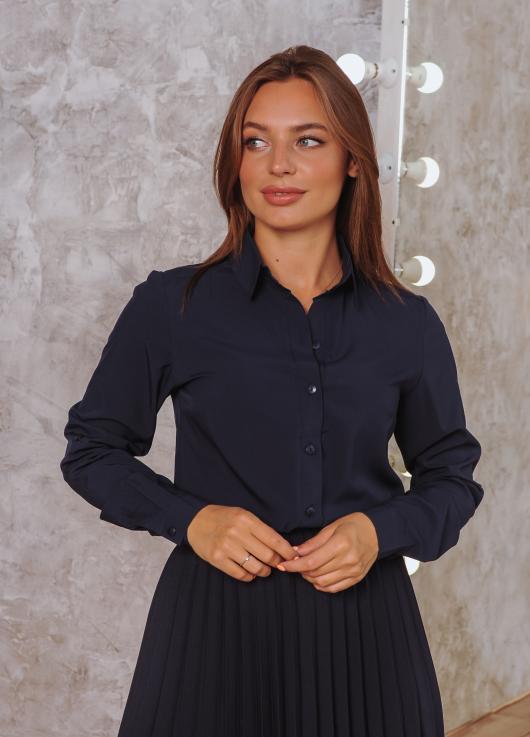 Рубашка Слава тёмно-синяя