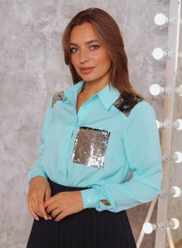 Рубашка Элла бирюзовая
