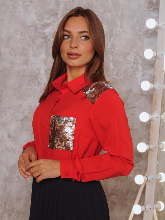 Рубашка Элла красная