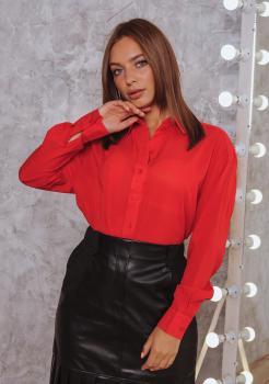 Женская рубашка Ария алая