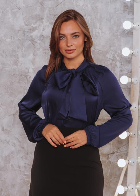Женская блузка Александра тёмно-синяя