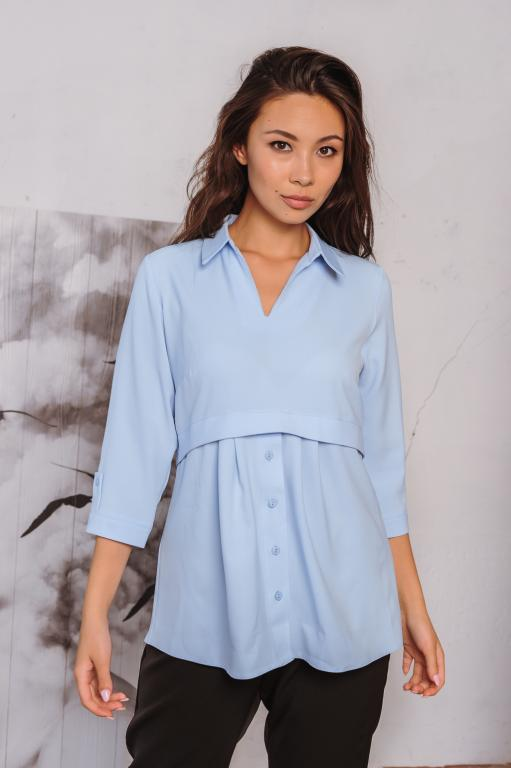 Блузка Тори голубая