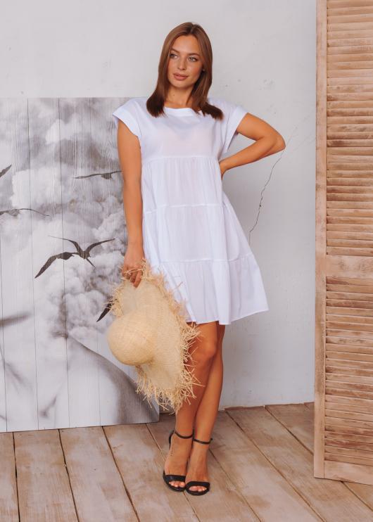 Женское летнее платье цвет белый