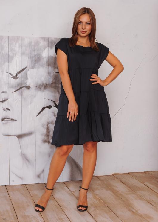 Женское летнее платье цвет чёрный