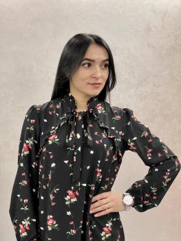 Женское платье Рюша цветочный принт