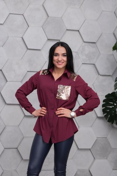 Рубашка Элла бордовая