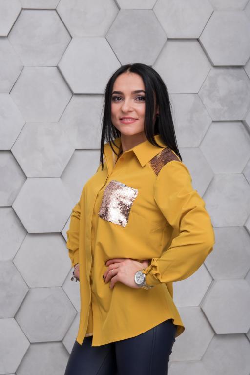 Рубашка Элла жёлтая