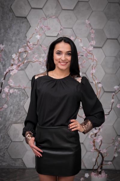 Блузка Стелла чёрная