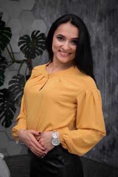 Блузка Камилла жёлтая