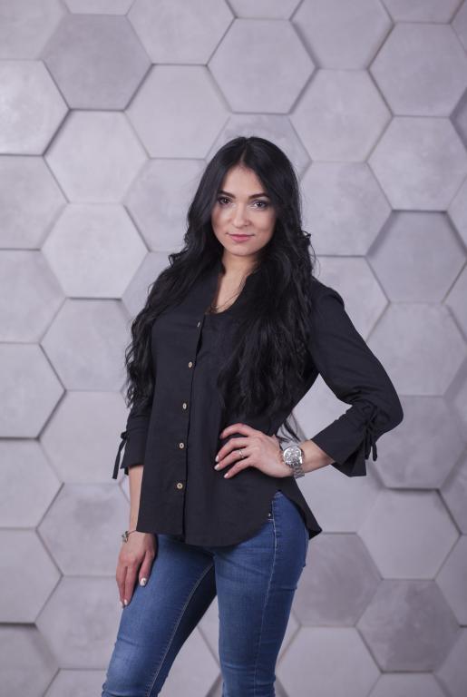 Блузка Ярина чёрная