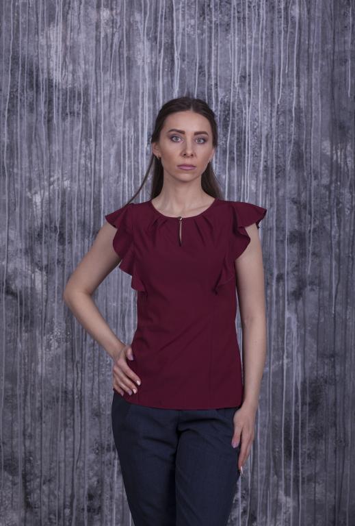 Блузка Мила бордовая
