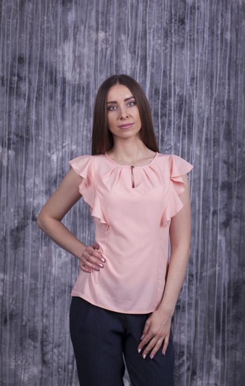 Блузка Мила персиковая