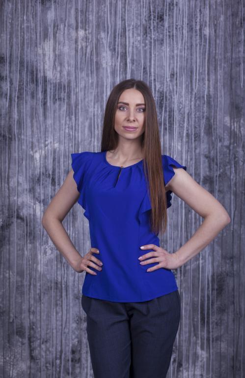 Блузка Мила синяя