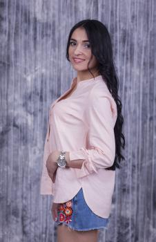 Блузка Ярина персиковая
