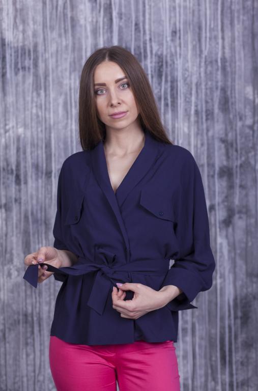 Блузка Элина тёмно-синяя
