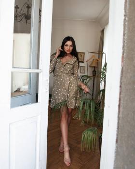 Женское летнее платье Эми оливковое