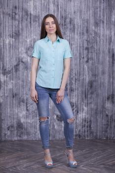 Рубашка Оскар с коротким рукавом светло-мятная