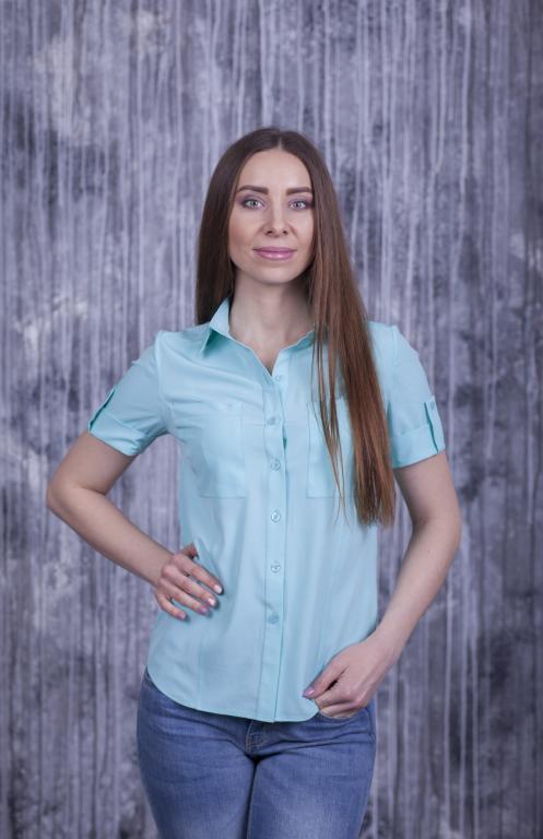 Рубашка Оскар с коротким рукавом мята