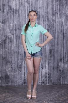 Рубашка Слава с коротким рукавом мятная