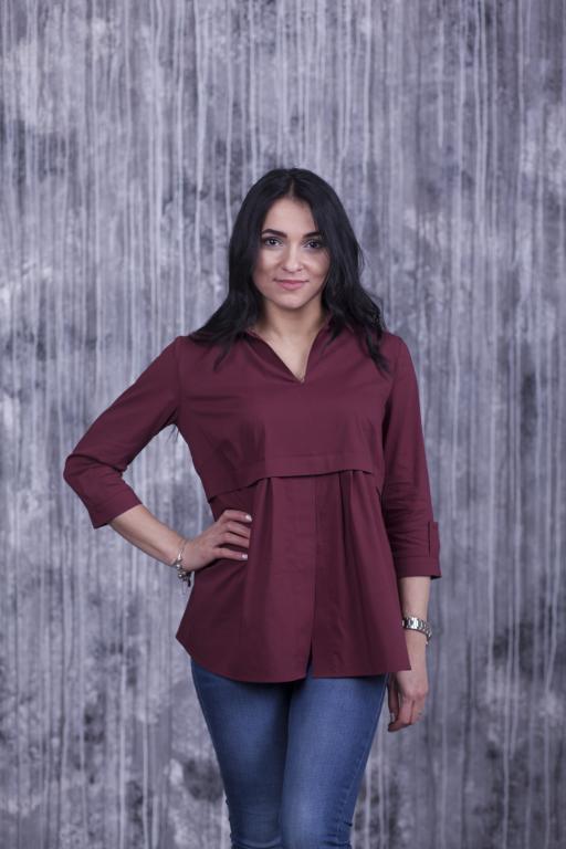 Блузка Тори бордовая