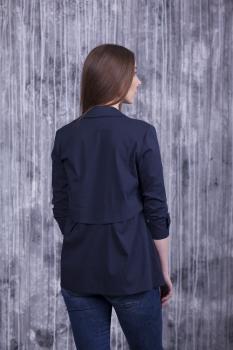 Блузка Тори тёмно-синяя