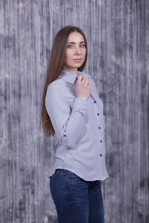 Рубашка Слава белая с мелким цветочком