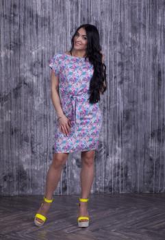 Платье Инга с принтом полоса