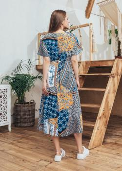 Платье Лисия с абстрактным принтом