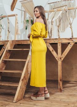 Женское летнее платье Мара желто-белое