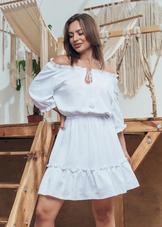 Женское летнее платье Злата белое