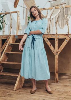 Женское летнее платье Герда голубое