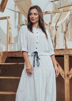 Женское летнее платье Герда белое с принтом