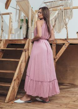 Женское платье Лика цвет светло-розовый в горошек
