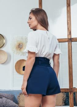 Женские шорты темно-синие