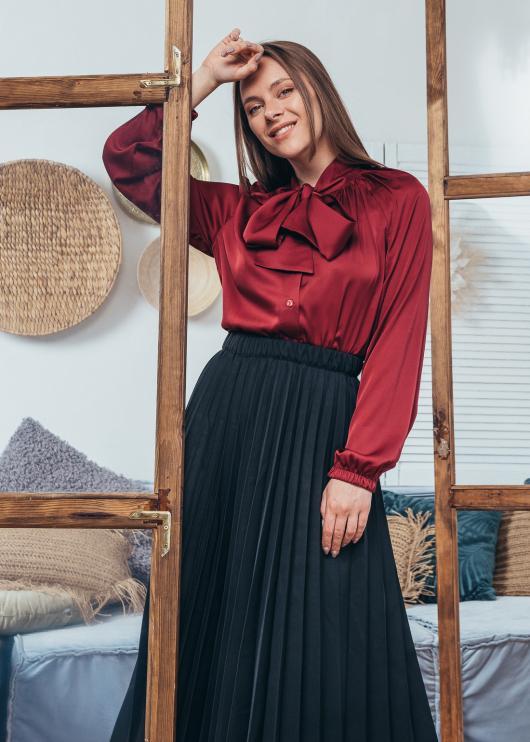 Женская юбка плиссированная Солье черная