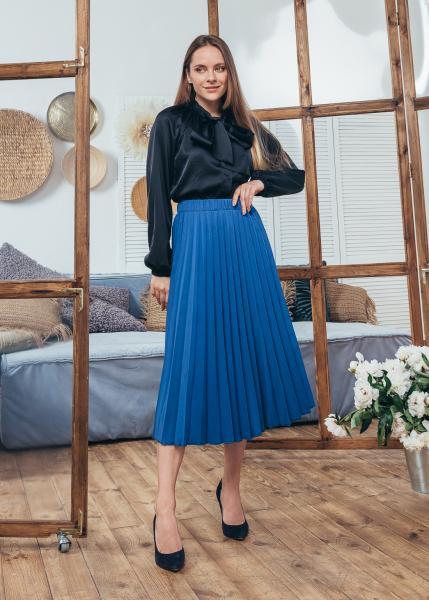 Женская юбка плиссированная Солье цвет синий