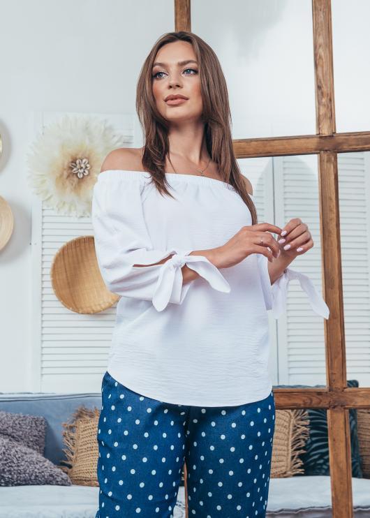 Женская летняя блузка Мара белая