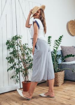 Женский летний костюм Катрин бело-синий