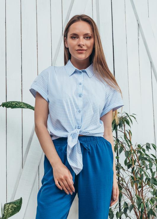 Рубашка Джина голубая