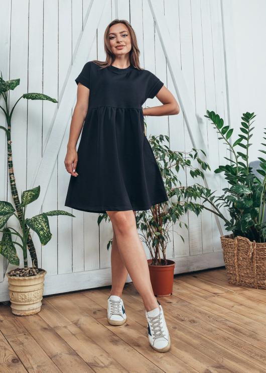 Женское платье спорт цвет черный