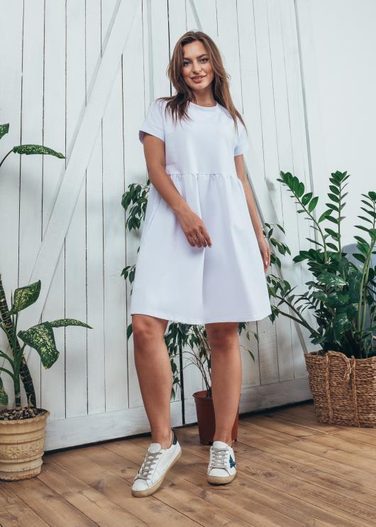 Женское летнее платье спорт белое