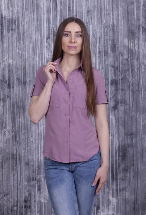 Рубашка Оскар с коротким рукавом розовая