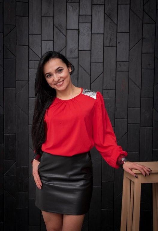 Блузка Стелла красная